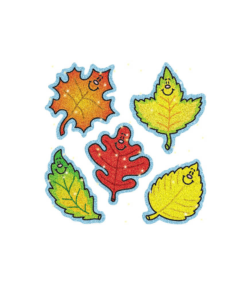Fall Leaves Dazzle™ Stickers Product Image
