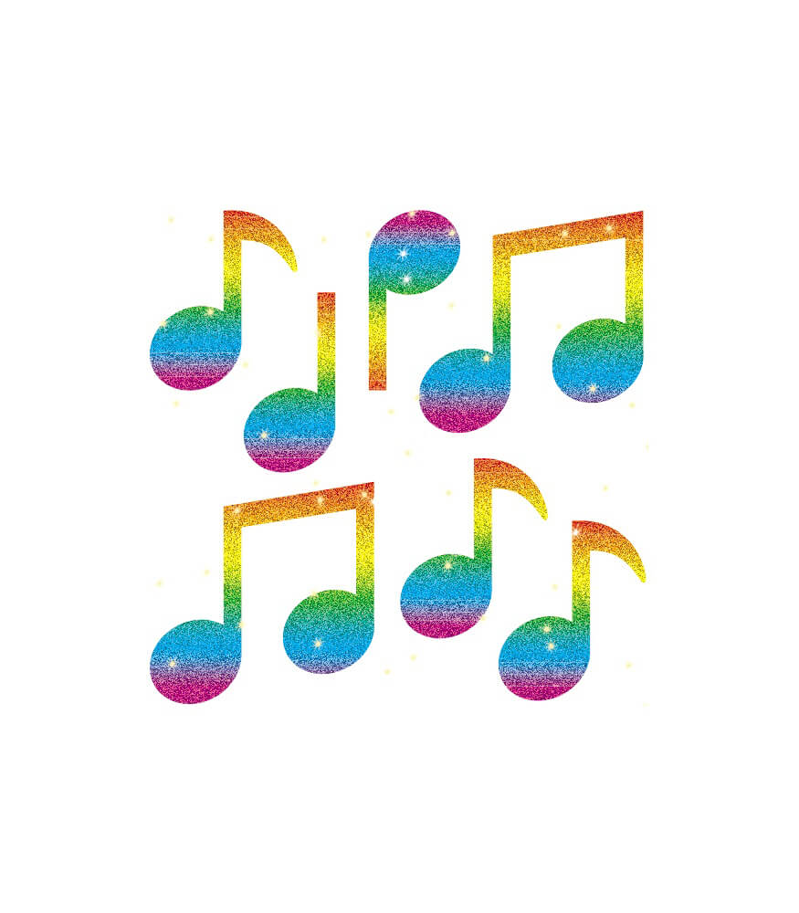Music Notes Dazzle™ Stickers Product Image