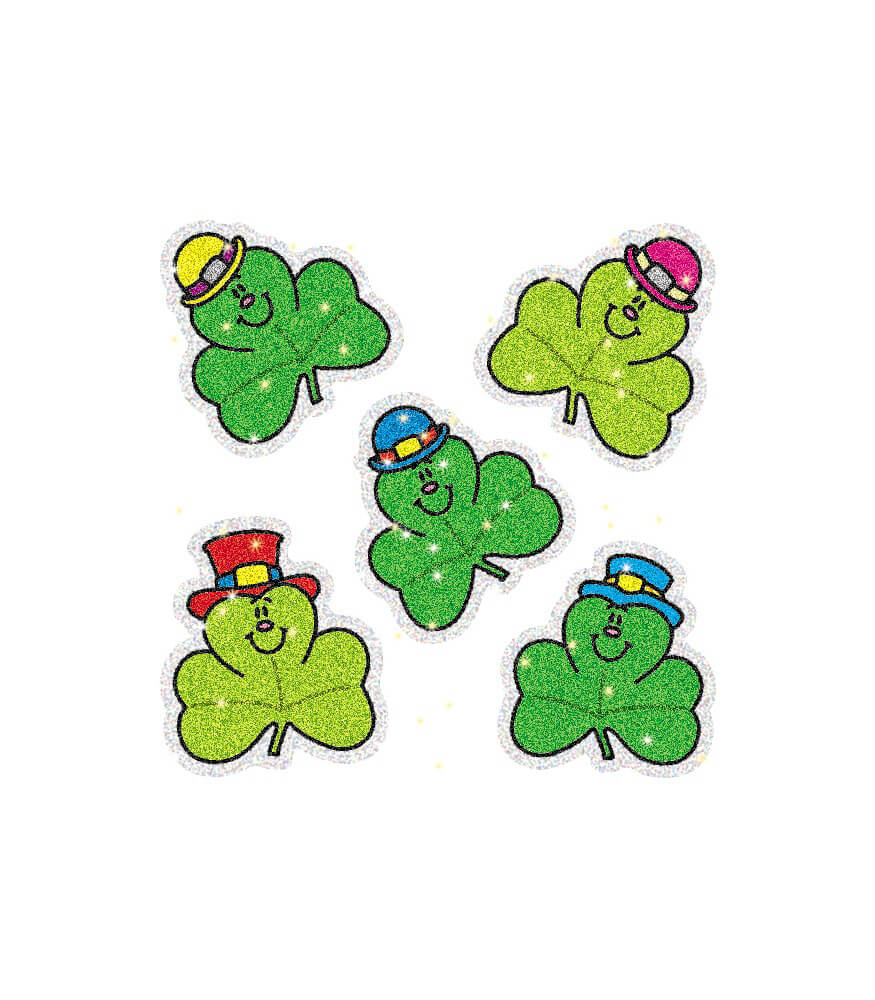 Shamrocks Dazzle™ Stickers Product Image