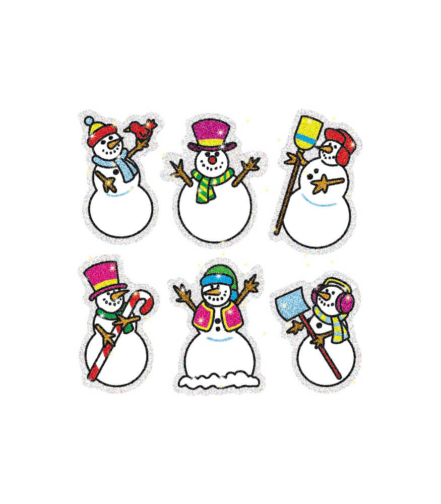 Snowmen Dazzle™ Stickers Product Image