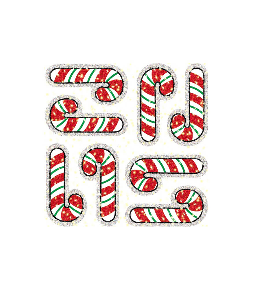 Candy Canes Dazzle™ Stickers Product Image