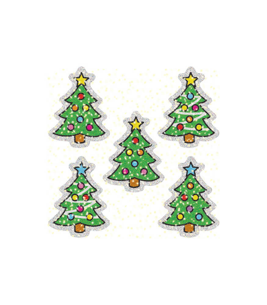 Christmas Trees Dazzle™ Stickers Product Image