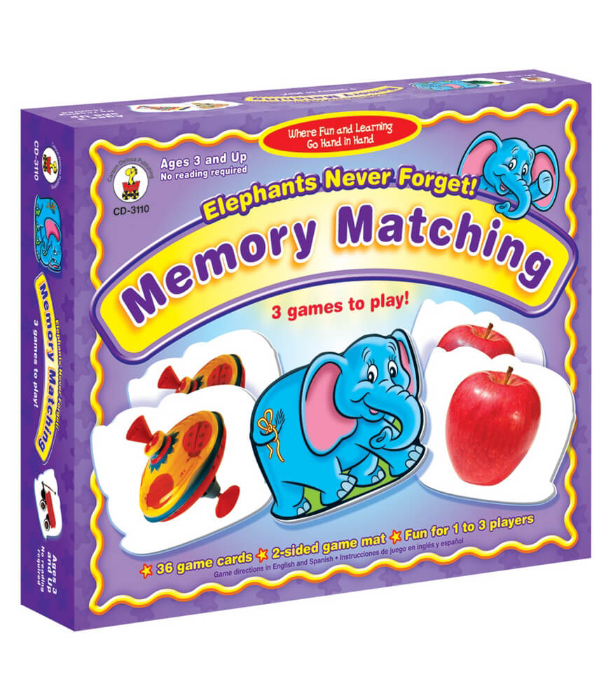 Elephants Never Forget: Memory Matching Board Game Product Image