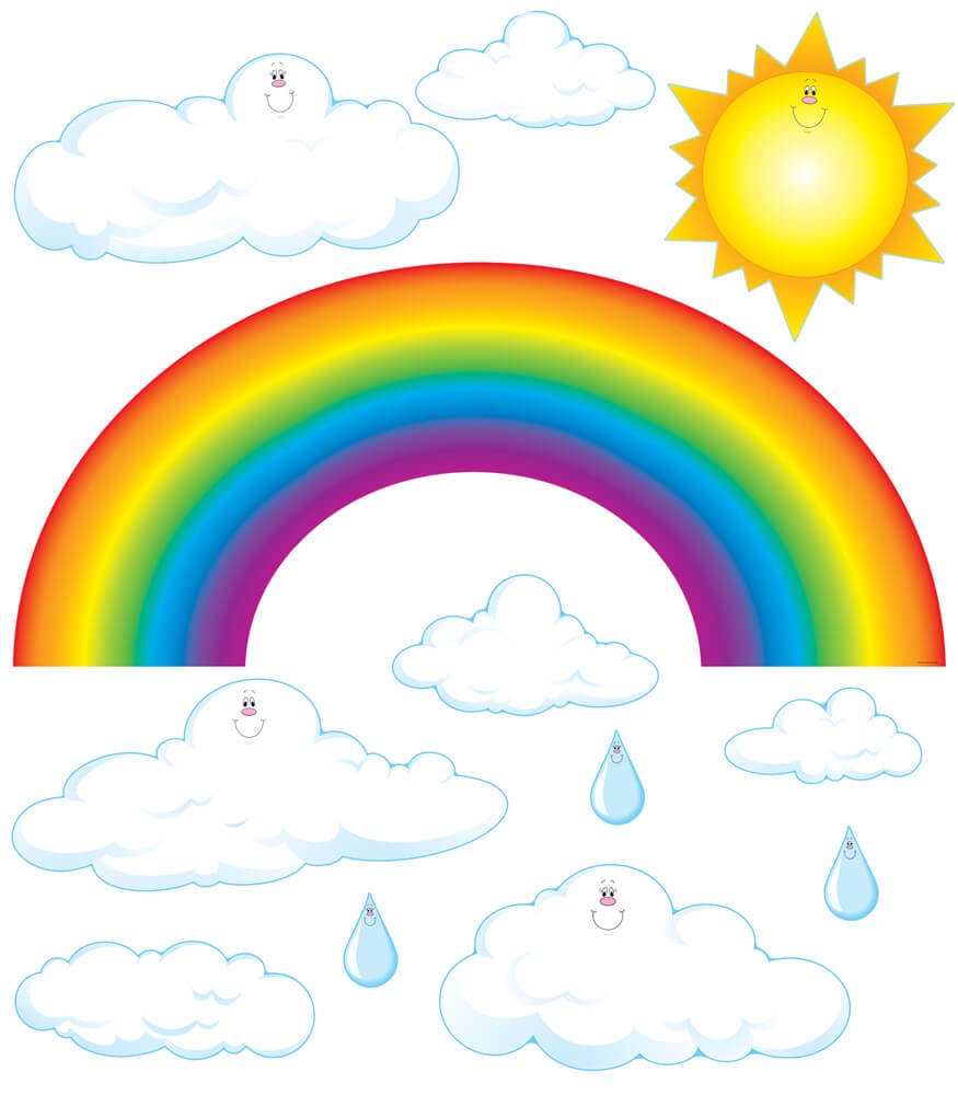 Big Rainbow Bulletin Board Set Product Image