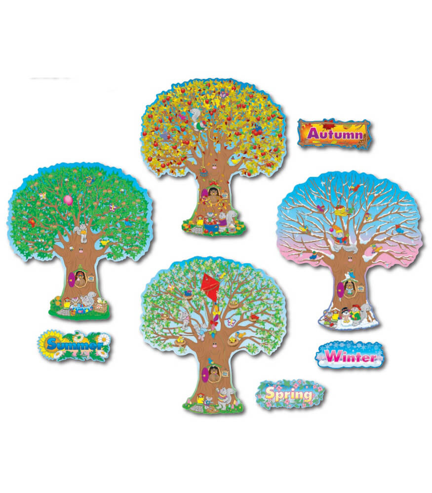 Four Seasons Trees Bulletin Board Set Product Image