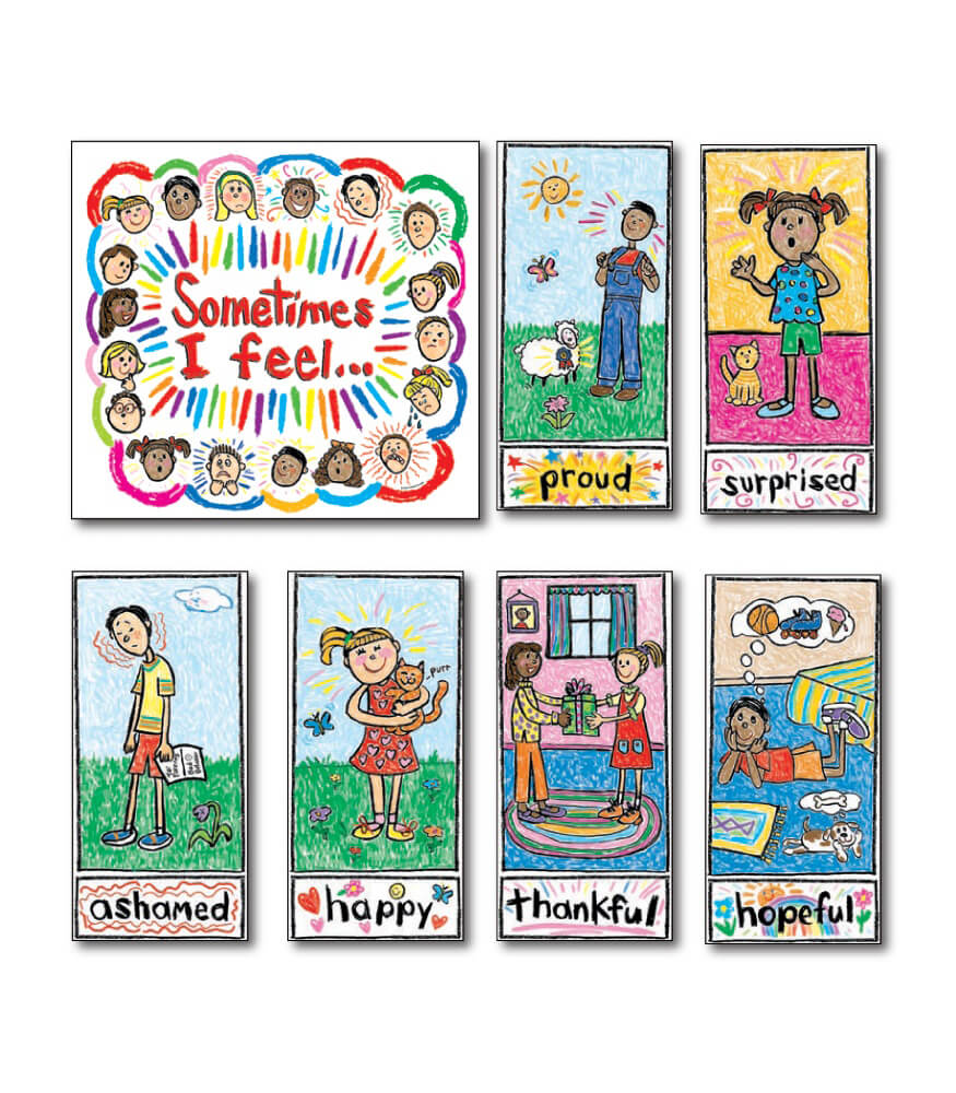 Kid-Drawn Emotions Bulletin Board Set Product Image