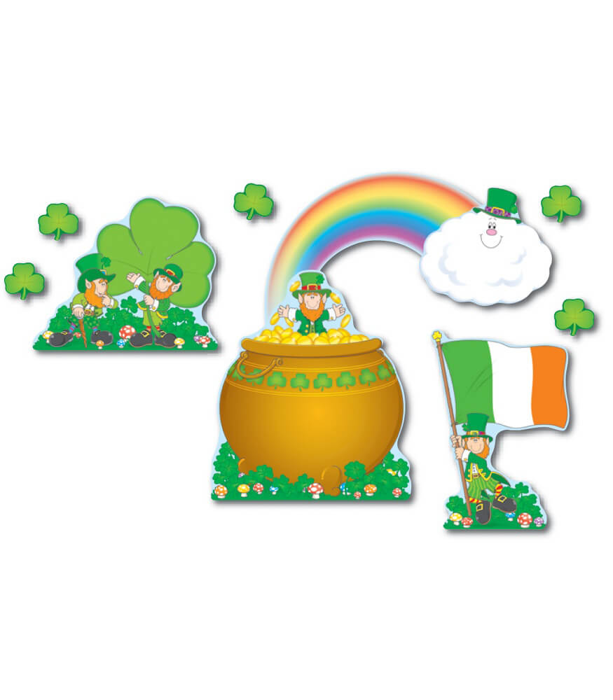 St. Patrick's Day Bulletin Board Set Product Image