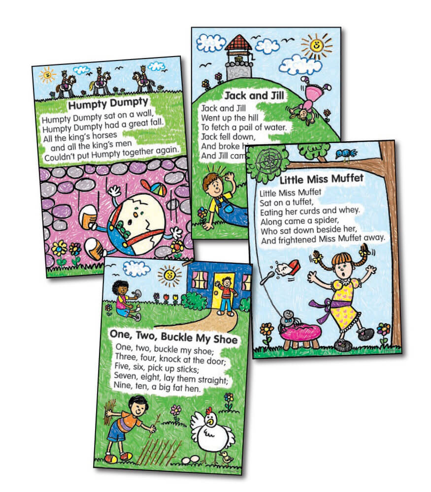 Nursery Rhymes: Kid-Drawn Bulletin Board Set Product Image