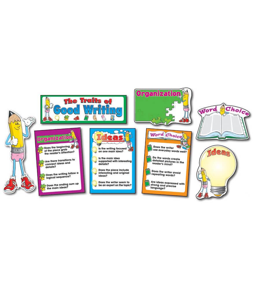 Traits of Good Writing Bulletin Board Set Product Image