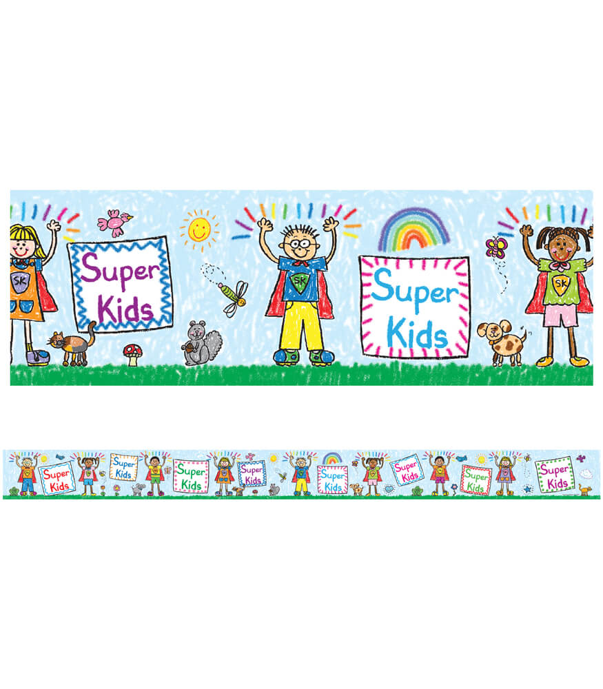 Super Kids Straight Borders Product Image