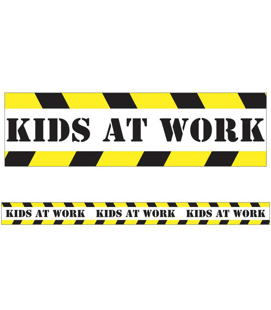 Kids at Work Straight Borders Product Image