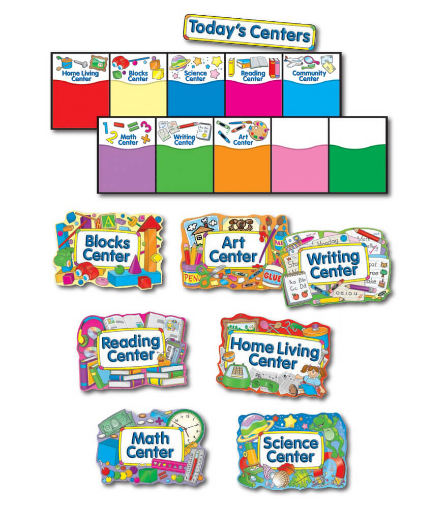 Learning Centers Bulletin Board Set Product Image