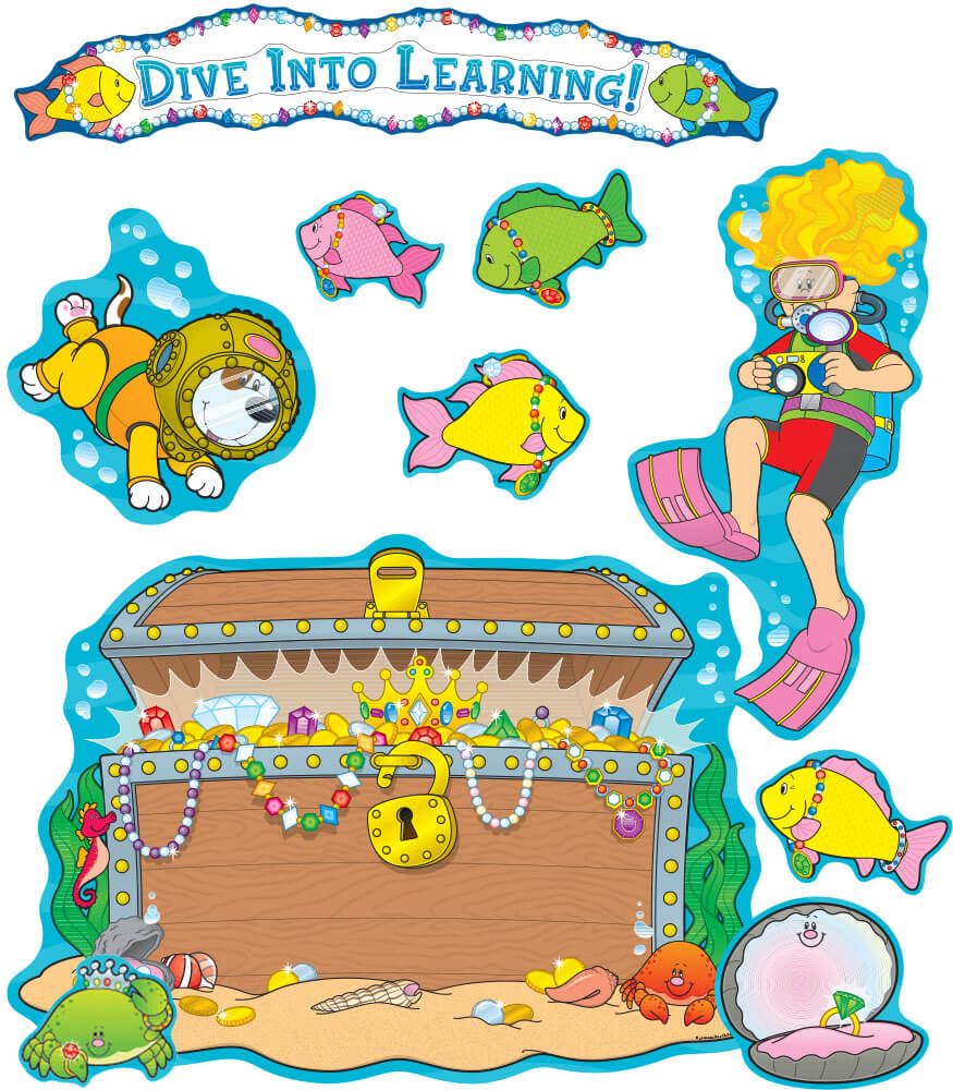 Dive Into Learning Bulletin Board Set Product Image