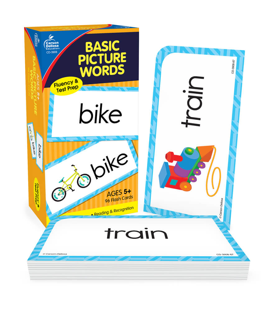 Basic Picture Words Flash Cards Product Image