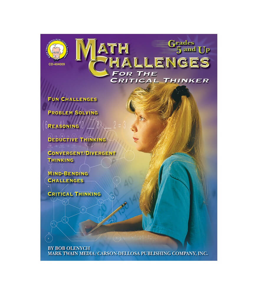 Math Challenges for the Critical Thinker Resource Book Product Image