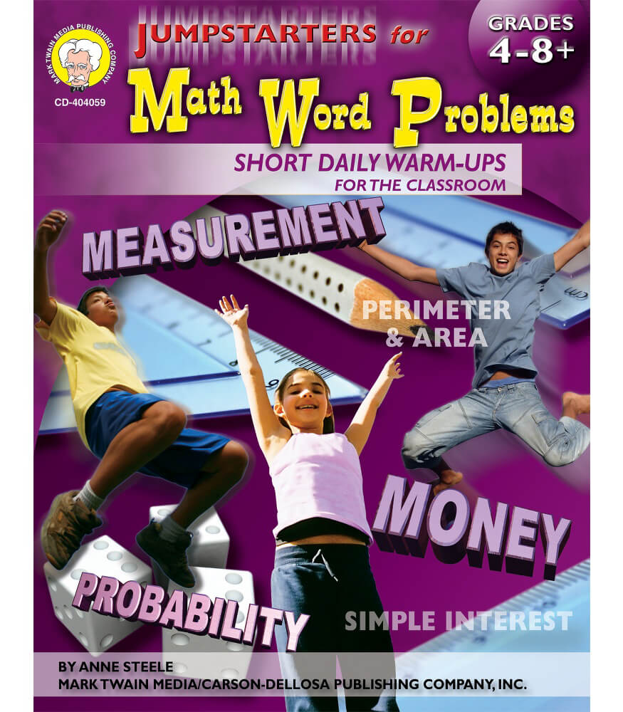 Jumpstarters for Math Word Problems Resource Book Product Image