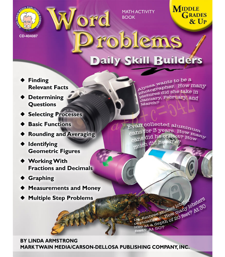 Word Problems Resource Book Product Image
