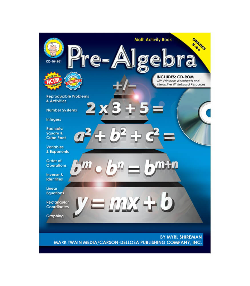 Pre-Algebra Resource Book Grade 5-12