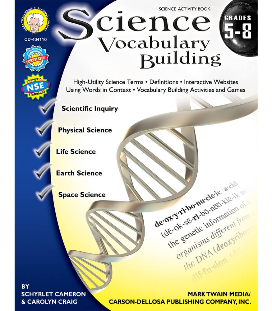 Science Vocabulary Building Resource Book Product Image