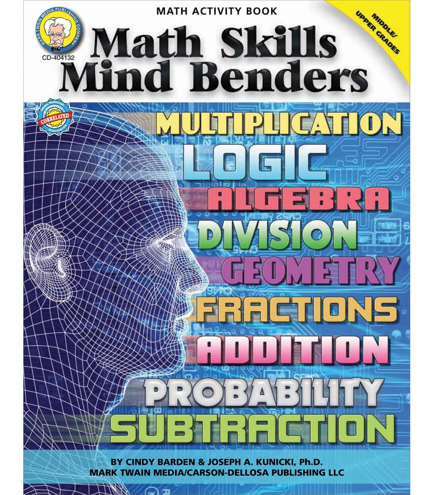 Math Skills Mind Benders Resource Book Grade 6-12
