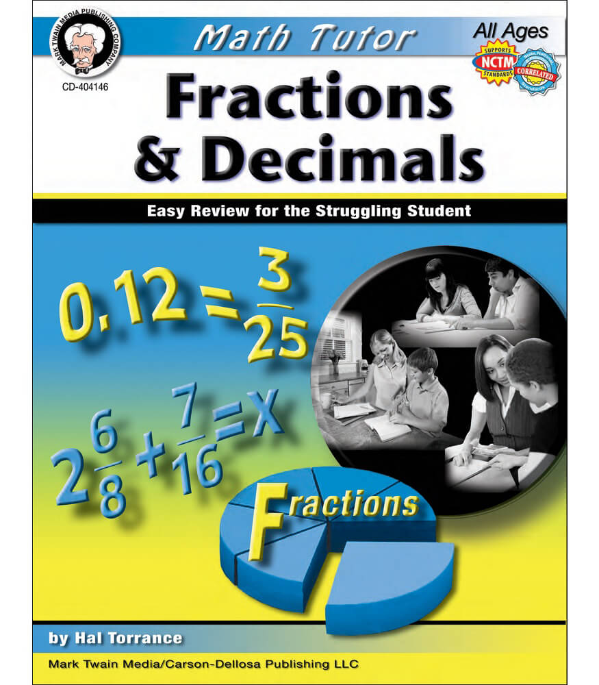 Math Tutor Fractions And Decimals Resource Book Product Image