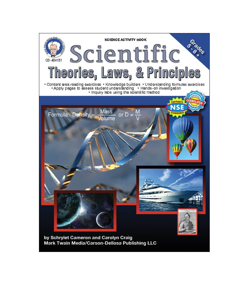 Scientific Theories, Laws, and Principles Resource Book Product Image