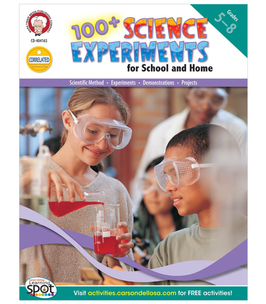 100+ Science Experiments for School and Home Resource Book Product Image