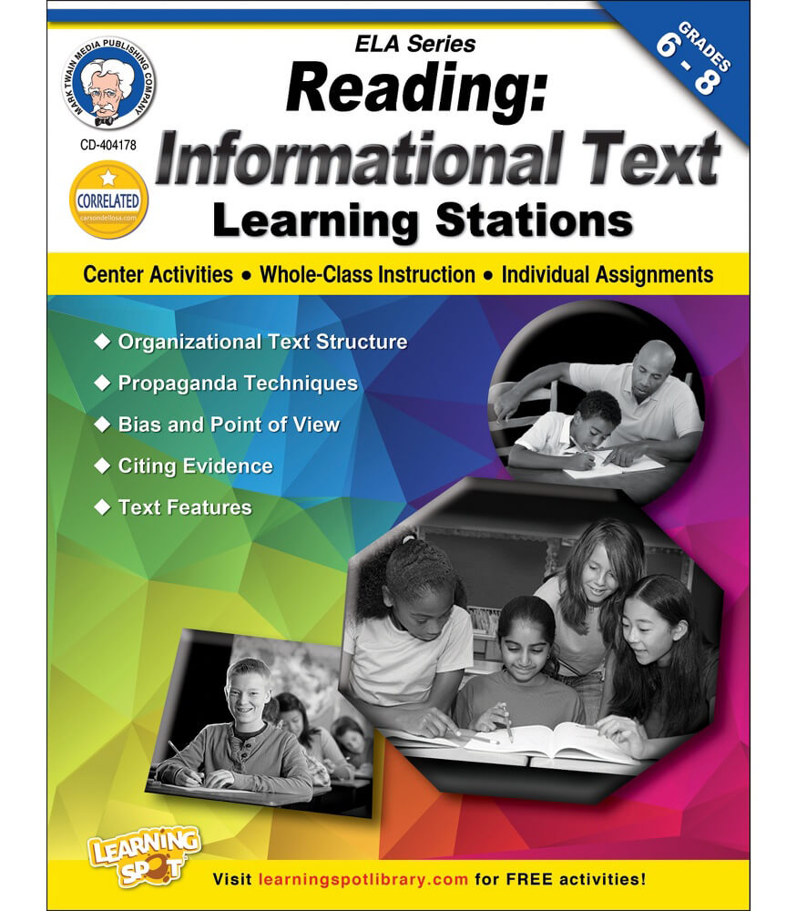 Reading: Informational Text Workbook Product Image