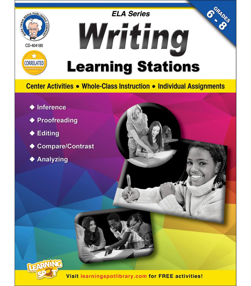 Writing Learning Stations Workbook Product Image