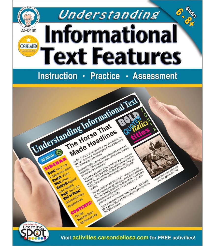 Understanding Informational Text Features Workbook Product Image