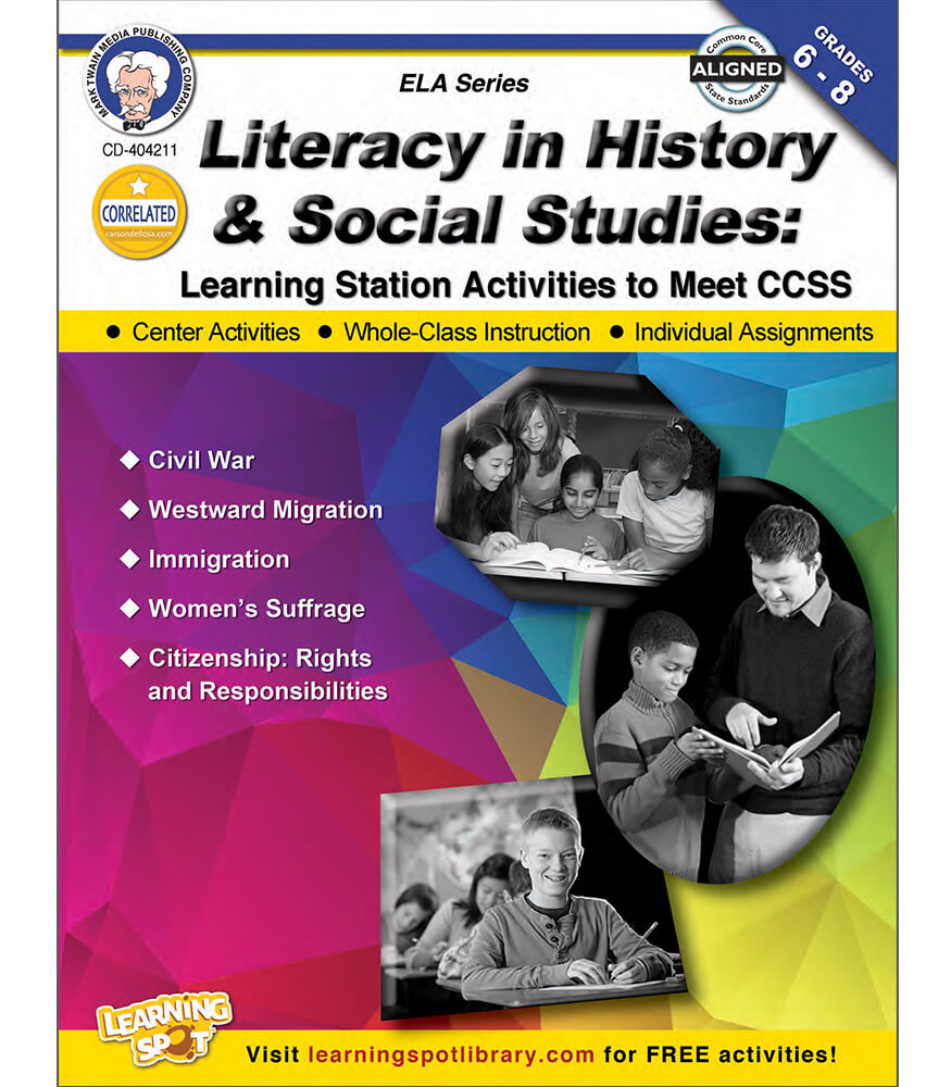 Literacy in History and Social Studies Resource Book Product Image