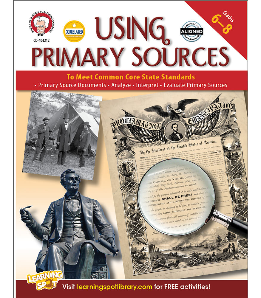 Using Primary Sources to Meet Common Core State Standards Resource Book Product Image