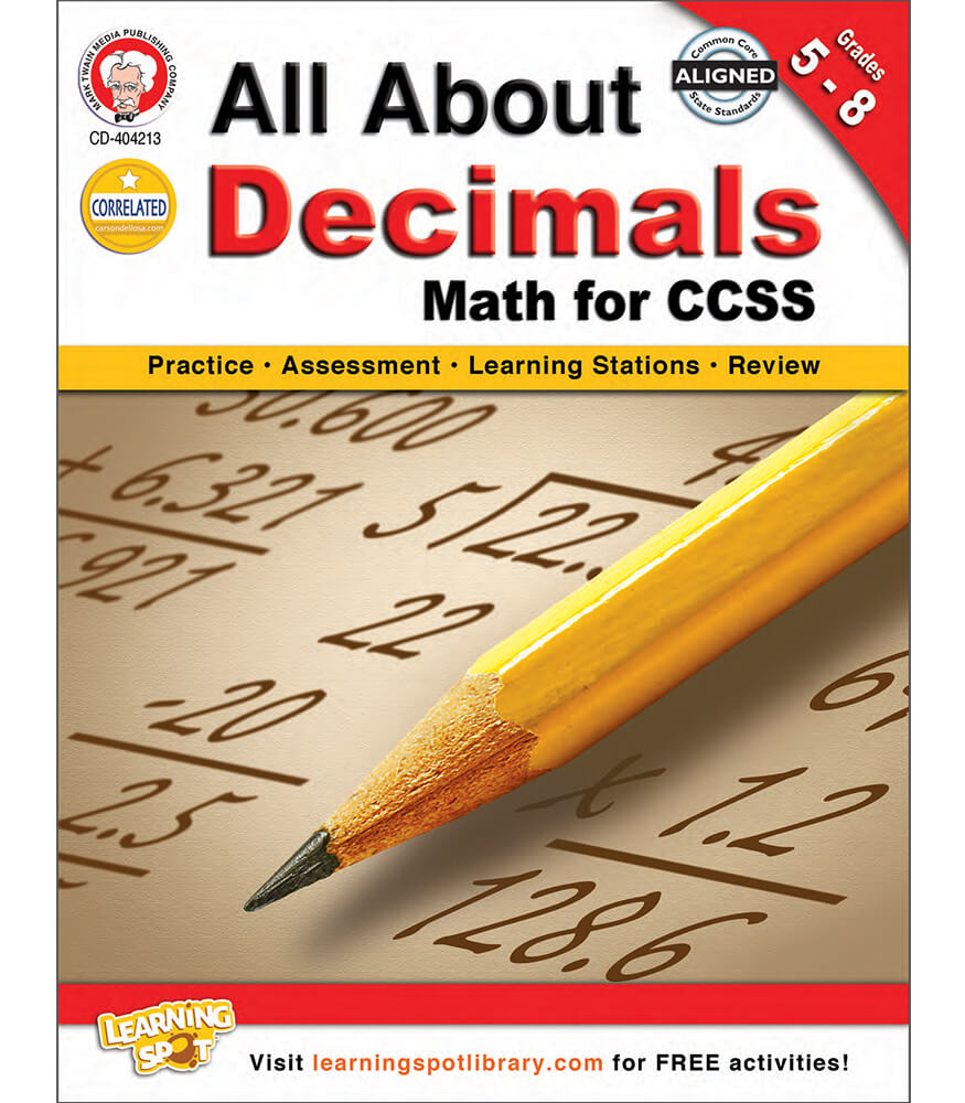 All About Decimals Resource Book Product Image