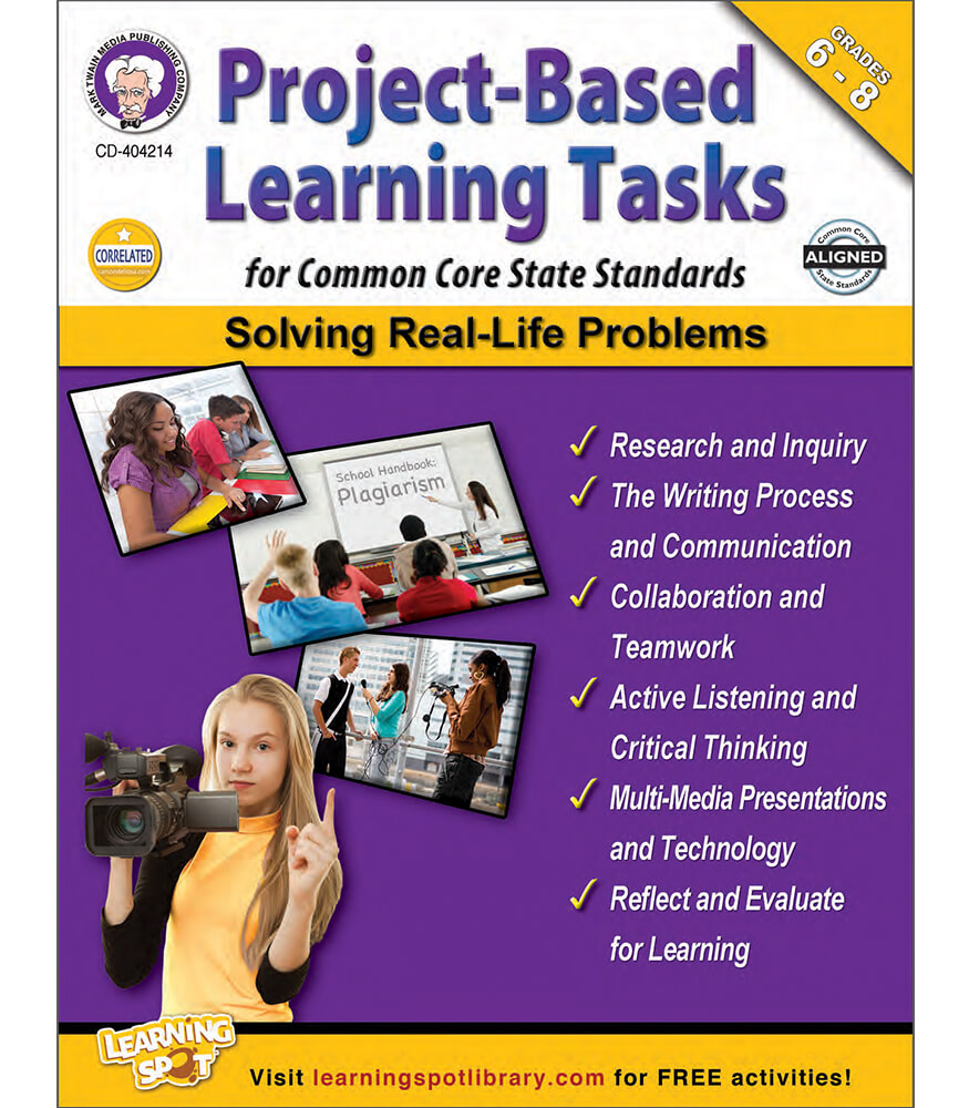 Project-Based Learning Tasks for Common Core State Standards  Resource Book Product Image