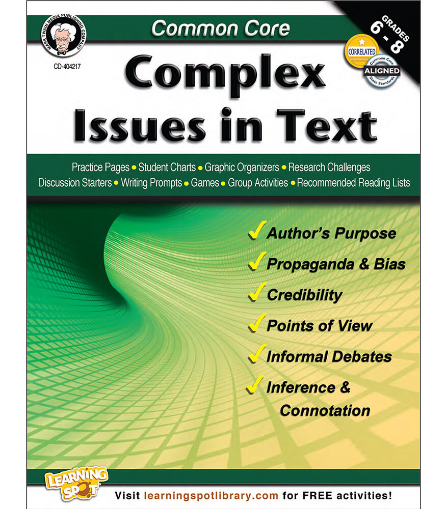 Common Core: Complex Issues in Text Resource Book Product Image