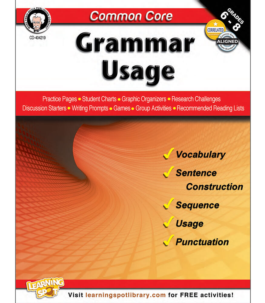 Common Core: Grammar Usage Resource Book Product Image