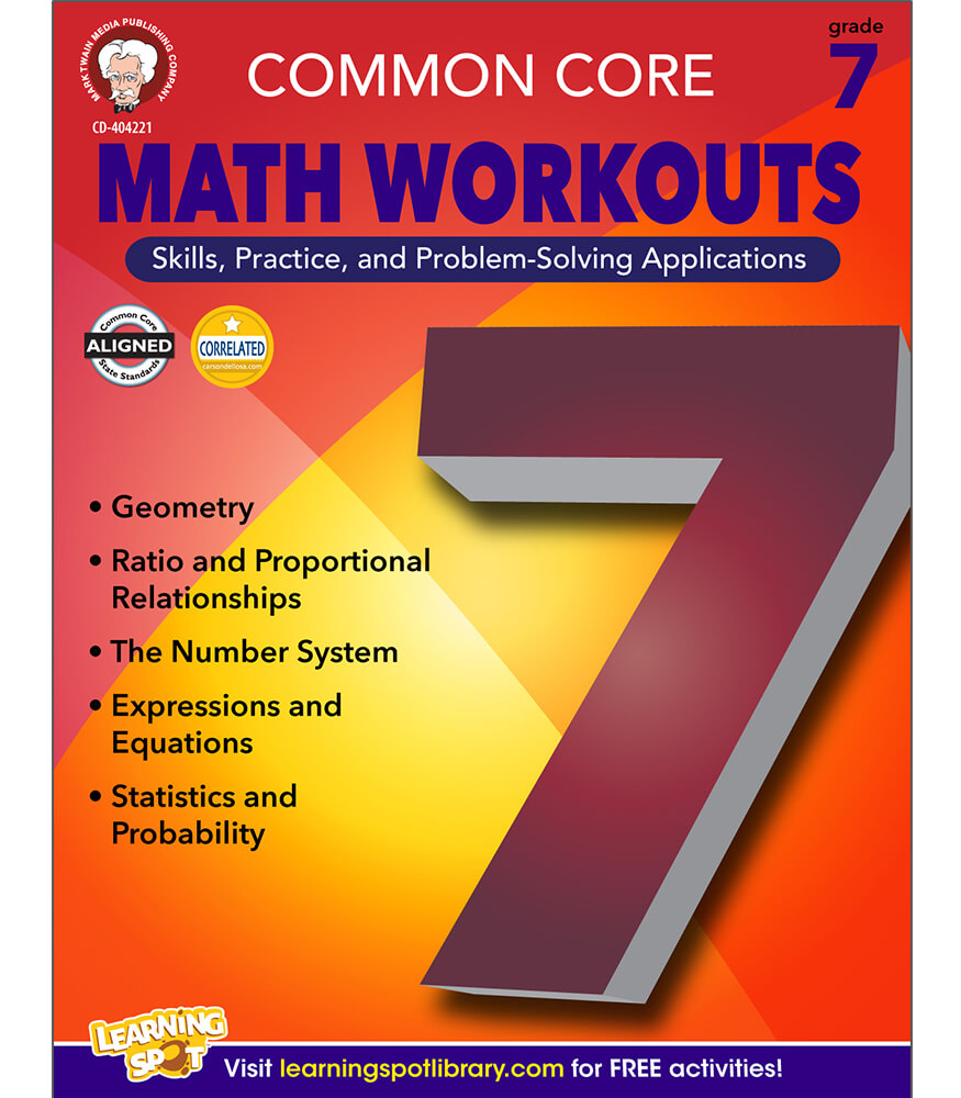 Common Core Math Workouts Resource Book Grade 7
