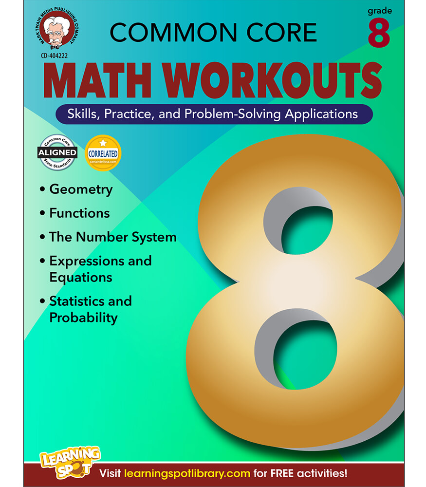 Common Core Math Workouts Resource Book Grade 8