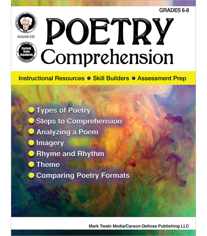 Poetry Comprehension Resource Book Product Image