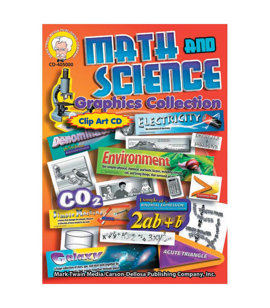 Math and Science Graphic Collection CD Clip Art Grade 5 8