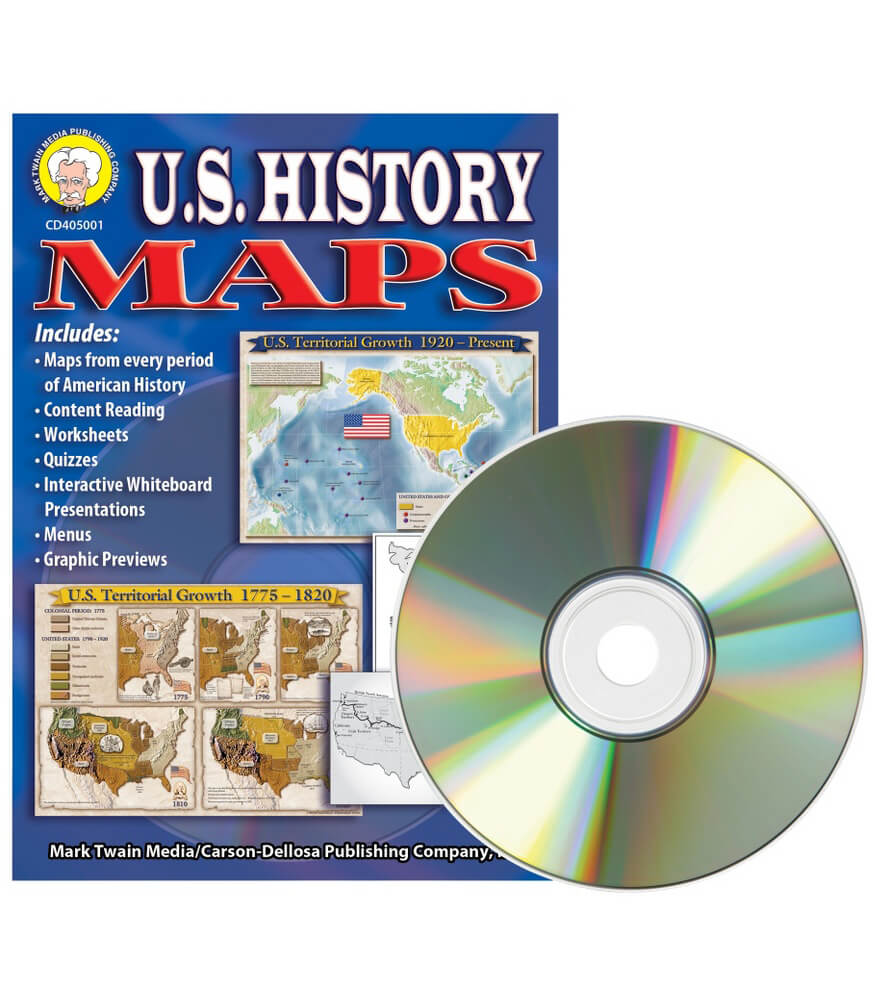 U.S. History Maps CD-ROM Product Image