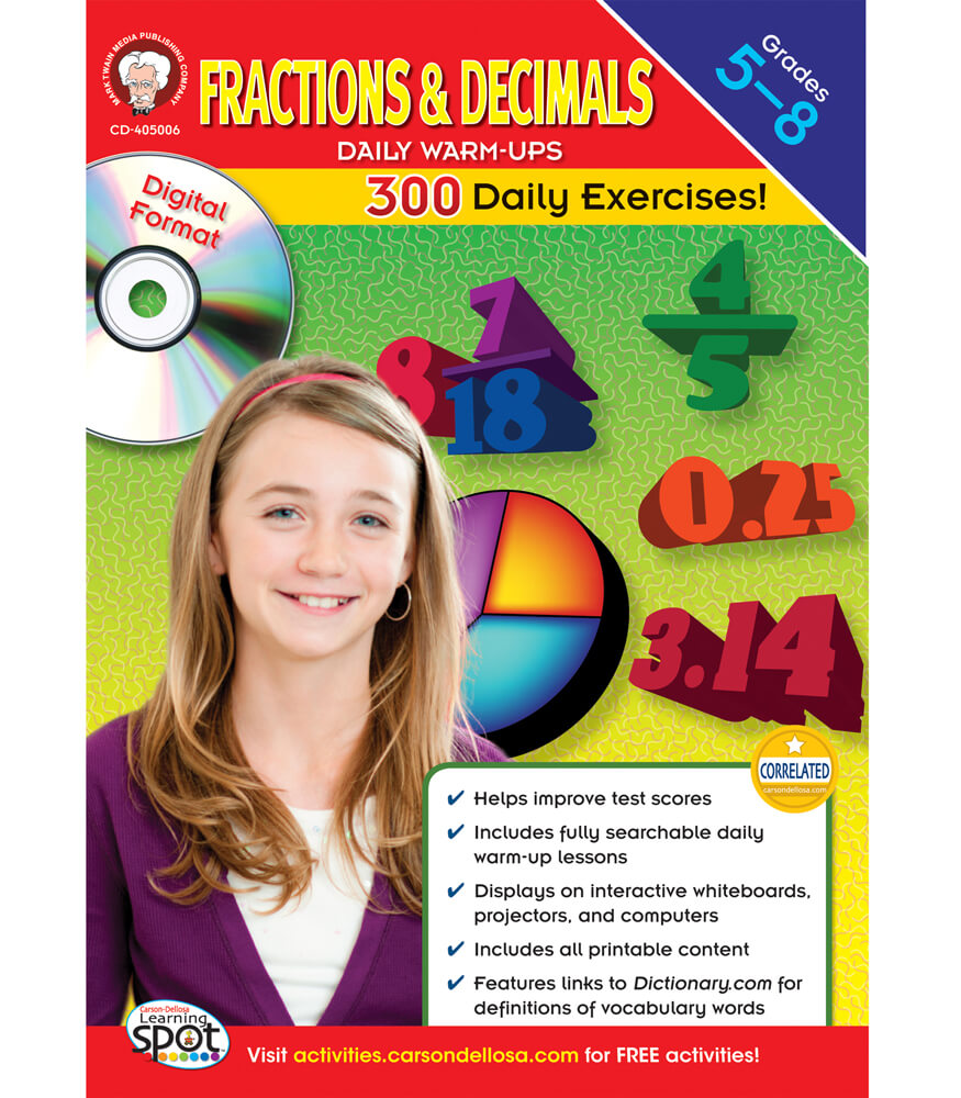 Fractions & Decimals Daily Warm-Ups CD-ROM Product Image
