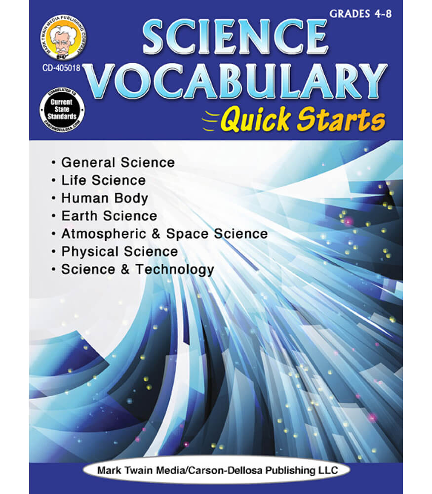 Science Vocabulary Quick Starts Workbook Product Image
