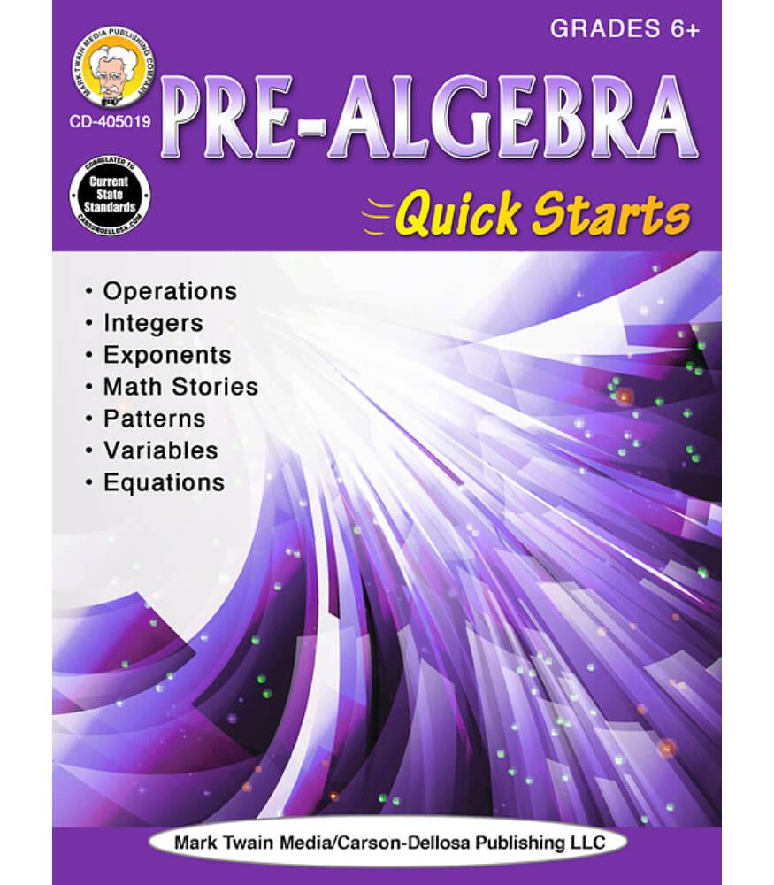 Pre-Algebra Quick Starts Workbook Product Image