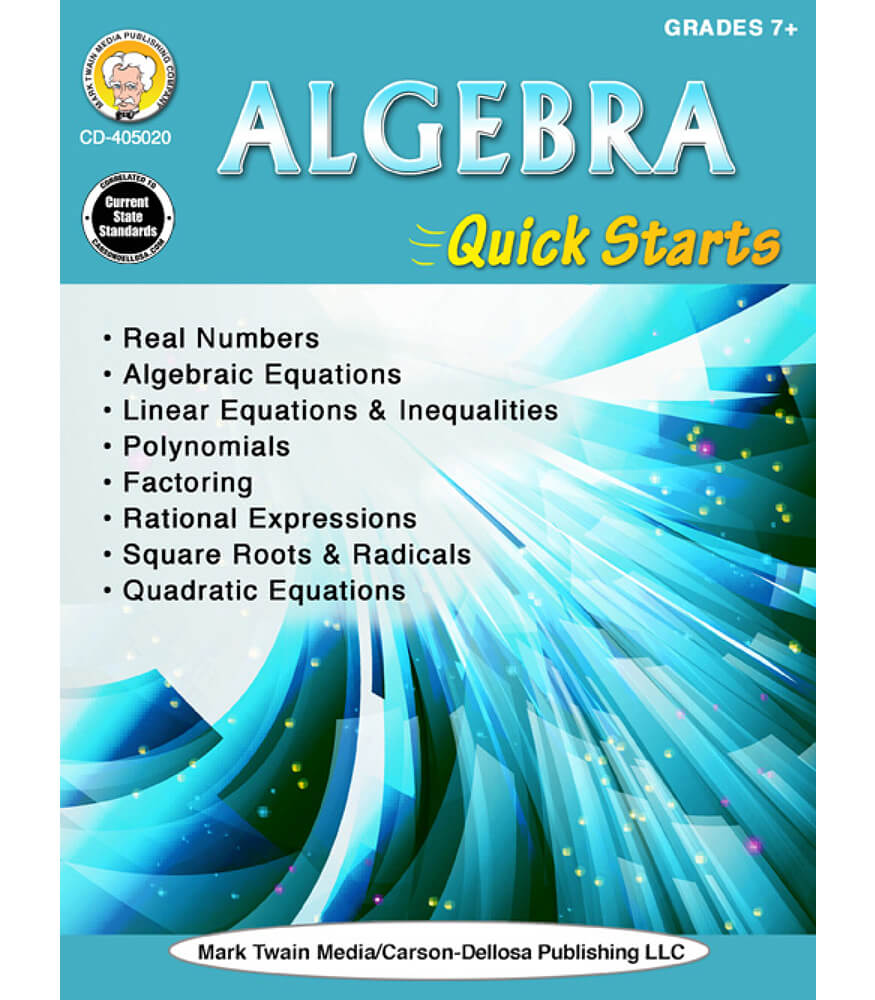 Algebra Quick Starts Workbook Product Image
