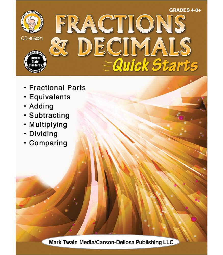 Fractions & Decimals Quick Starts Workbook Product Image