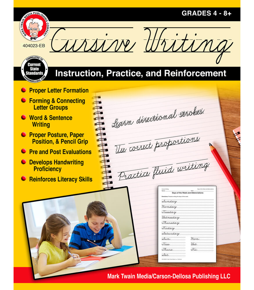 Cursive Writing: Instruction, Practice, and Reinforcement Workbook Product Image