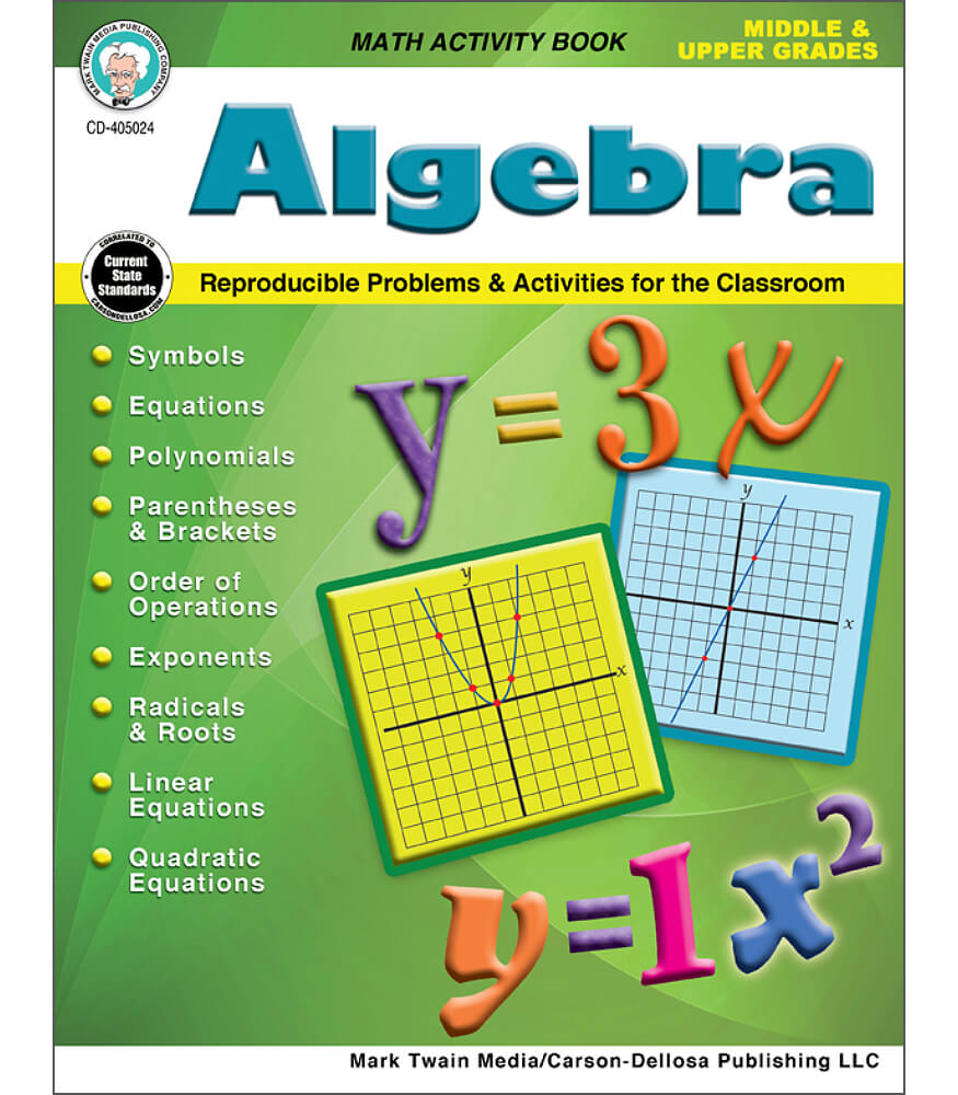 Algebra Workbook Product Image