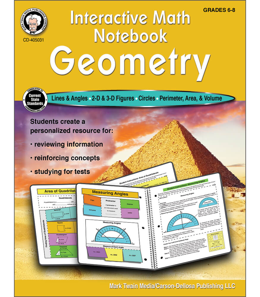 Interactive Math Notebook: Geometry Workbook Product Image