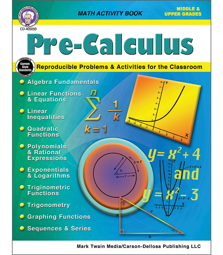 Pre-Calculus Workbook Product Image
